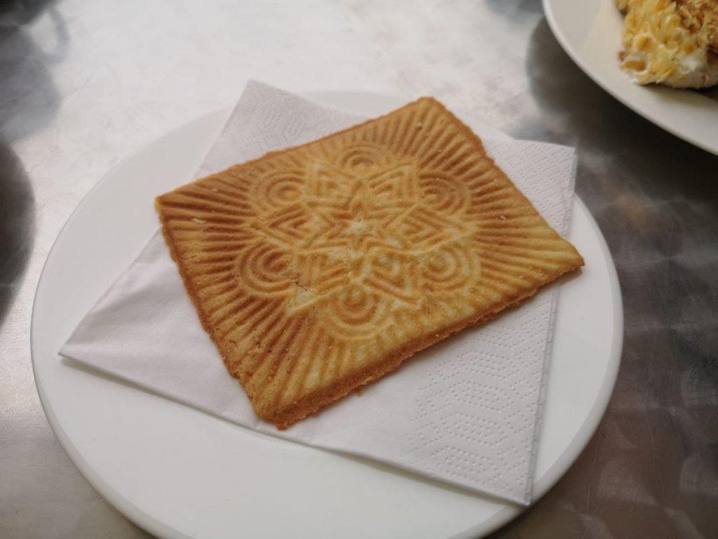 Friesenwaffel im Cafe Schult